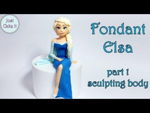 How to make fondant Elsa cake topper part 1 - body /Jak zrobić figurkę Elsy część 1 - ciało