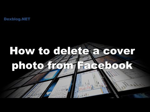 How to delete a cover photo from Facebook