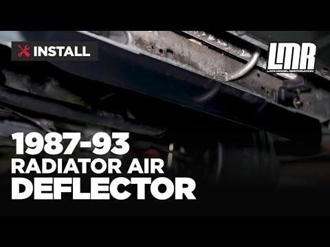 1987-1993 Mustang 5.0 Resto Radiator Air Deflector - Install & Review