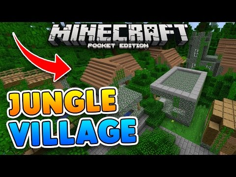 RARE JUNGLE VILLAGE SEED w/ Jungle TEMPLE!! Minecraft PE (Pocket Edition)
