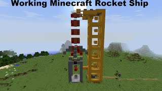 How To Make A Simple Rocket Ship That Flys In Minecraft Blast Off