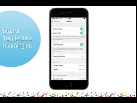 Apple iPhone 6: Turn on/off data roaming