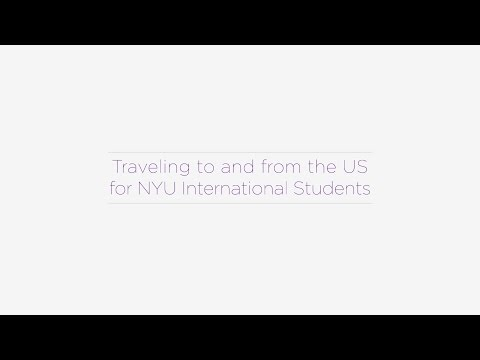 Traveling to and from the US for NYU International Students
