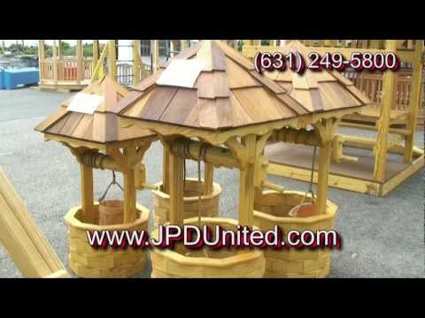 Video 11: Wooden Decorative Outdoor Wishing Wells -- JPD United Farmingdale New York (NY)