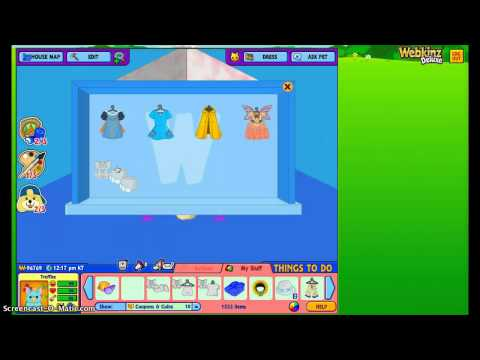 Working on one of my Storage Rooms in Webkinz World