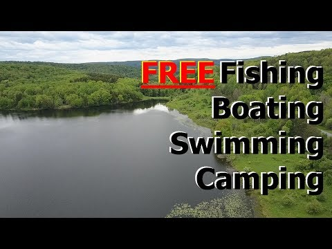 Free Camping, Boondocking, fishing and wildlife - Hunts Pond, NY