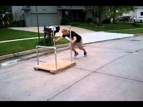 Football sled workout