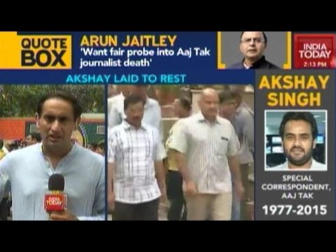 Journalist Akshay Singh Laid To Rest; Chorus For CBI Probe Into The Case