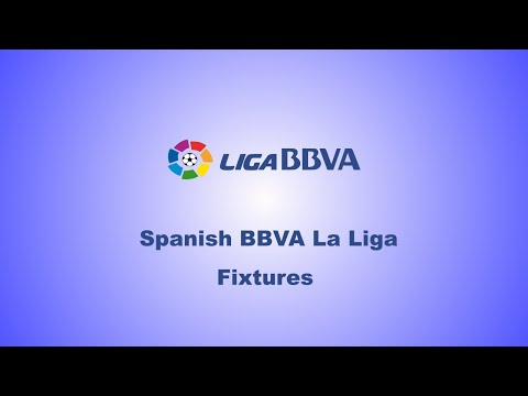Spanish BBVA La Liga Fixtures :Matchday 38