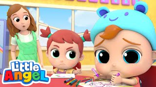 Baby John Learns How to Share | Good Manners & Habits Song | Little Angel Kids Songs