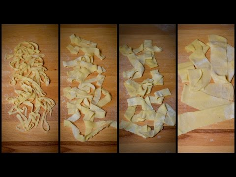 How to Cut Fresh Homemade Pasta by Hand