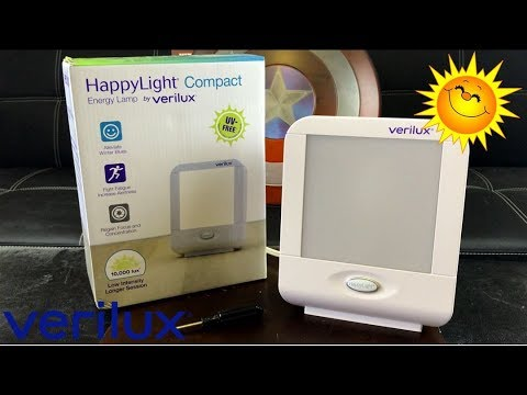Verilux HappyLight Compact Light Therapy Energy Lamp Review | How To Combat S.A.D.