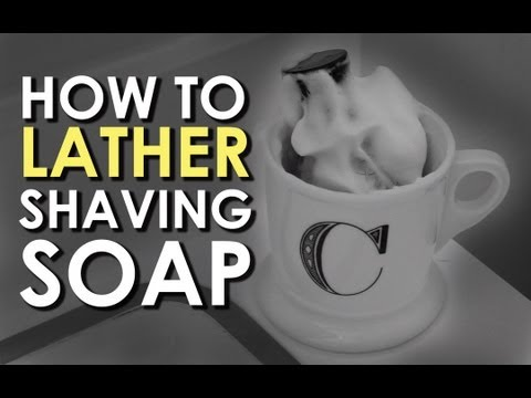 How to Lather Shaving Soap | AoM Instructional