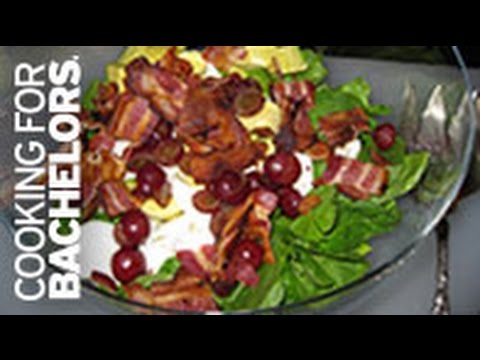 Spinach Salad (Bacon, Egg & Cheese Spinach Salad) by Cooking for Bachelors® TV
