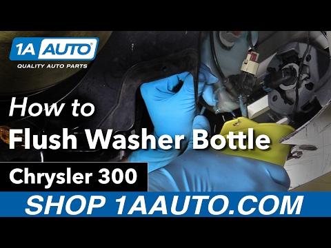 How to Flush Windshield Washer Bottle 2006 Chrysler 300