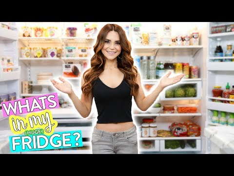 Whats In My HUGE Fridge?