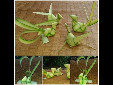 How to make plam peacock(used Coconut tree leaf)