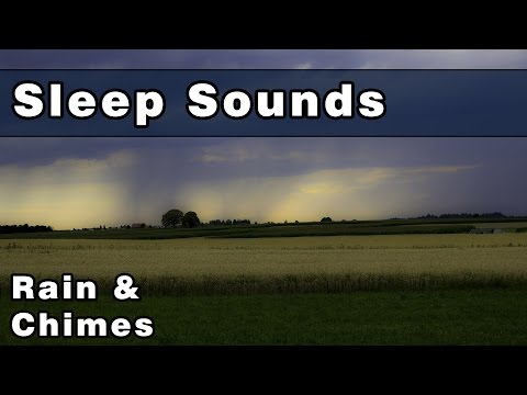 Soothing RAIN SOUNDS & WIND CHIMES, Sleep Sounds, Sleep Music, Gently Relax & Unwind, 12 Hours