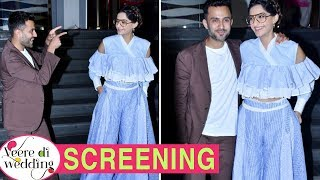 Sonam Kapoor Arrives With Husband Anand Ahuja At Veere Di Wedding Screening