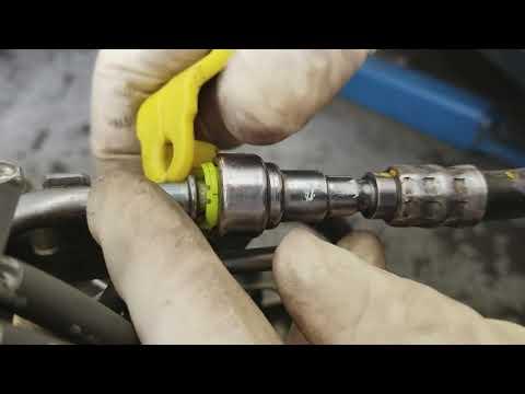 Release subaru fuel line without damaging it