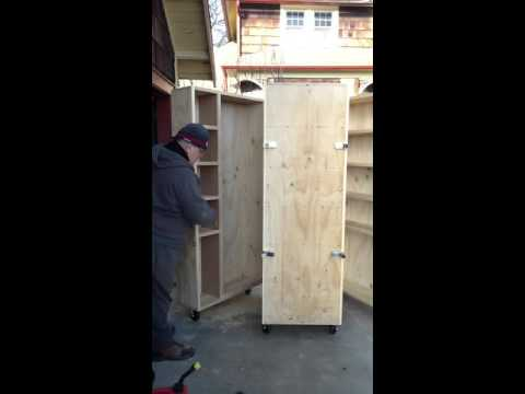 roll around , swing out tool cabinet
