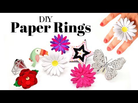 DIY Paper Rings | How To Make Paper Jewellery