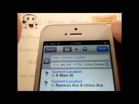 iPhone 5 - How to Use Google Maps New Features - Apple iPhone 5 - Tutorial #13