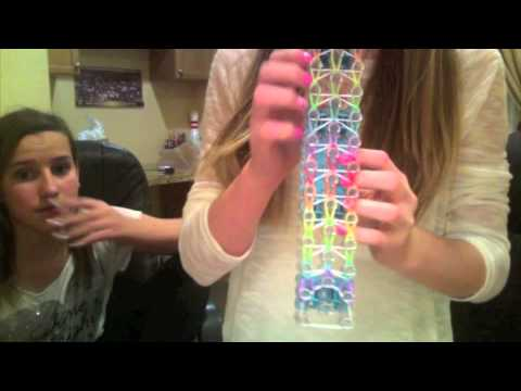 How to make a waterfall (triple single) rainbow loom bracelet
