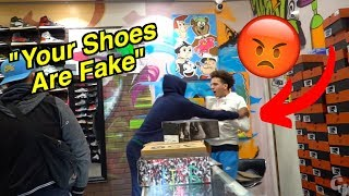 YOUR SHOES ARE FAKE PRANK GONE WRONG!!!!!(MUST SEE)
