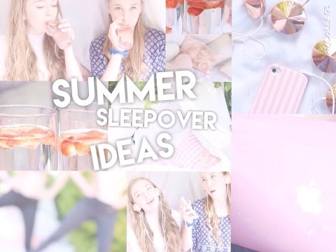 ♡Summer Sleepover Ideas! DIY's, Things To Do & More! | Floral Princess♡