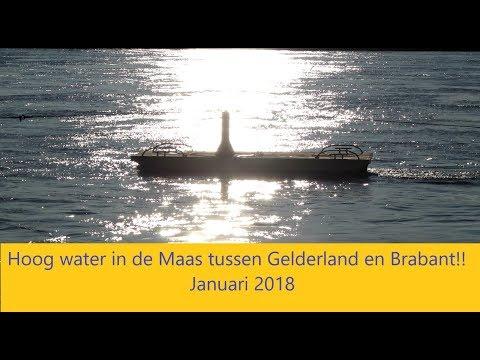 Hoogwater Maas januari 2018 tussen Gelderland en Brabant!!!