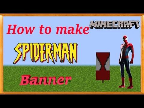 Minecraft | How to make Spiderman Banner | MangoMan