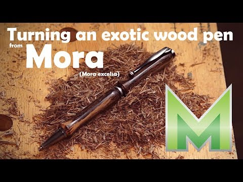 Turning an exotic wood pen from Mora excelsa - Plus several firsts!