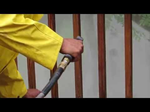 Deck Railing Pressure Washing