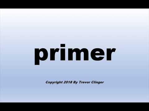 How To Pronounce primer (Paint)