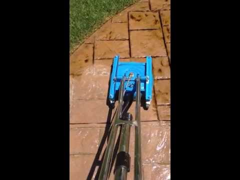 Stamped Concrete Patio - Cleaning