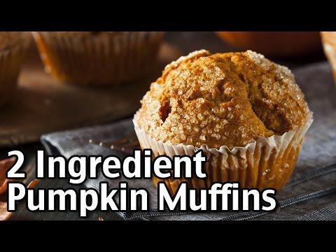 Easy 2 Ingredient Pumpkin Muffins!
