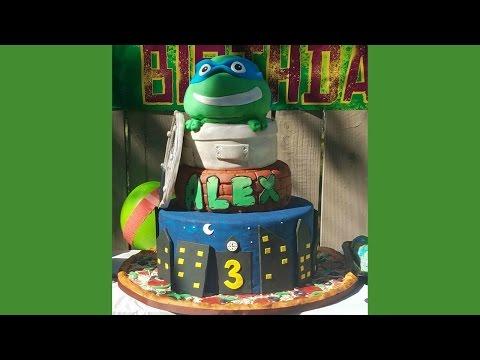 HUGE Ninja turtle cake with DIY dummy cake 🐢 Pastel de tortuga ninja