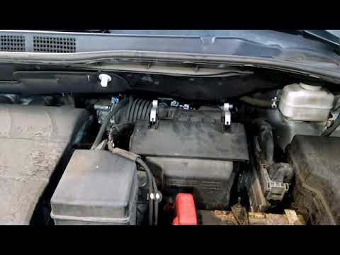 Air filter replacement 2013 Toyota Sienna install remove replace how to change