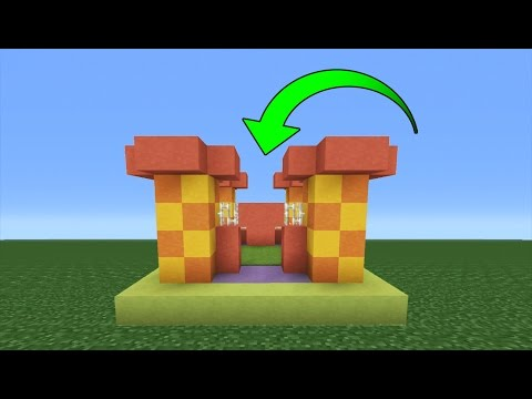Minecraft Tutorial: How To Make A WORKING Bouncy Castle