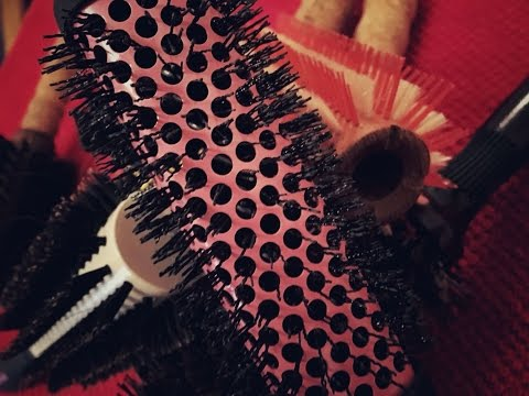 Choosing a hair brush to suit cut, condition & length