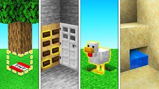10 SECRET Base Entrances You'll NEVER FIND! (Minecraft)
