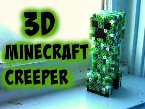 3D Perler Bead Minecraft Creeper Figure (FULL TUTORIAL)