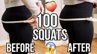 100 Squats Challenge Before & After Results