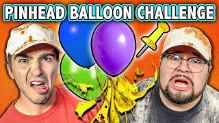 EXTREME PINHEAD BALLOON CHALLENGE! (ft. React Cast)   Challenge Chalice