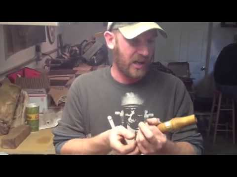 Jon Riggle blowing my goose call
