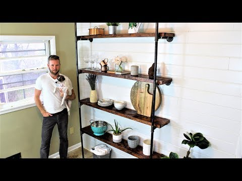 The Industrial Wall Shelves - Easy DIY Project