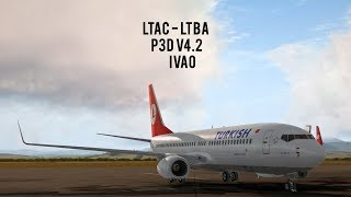 P3D / PMDG 737-800 NGX / Corfu (FlyTampa) to Thessaloniki