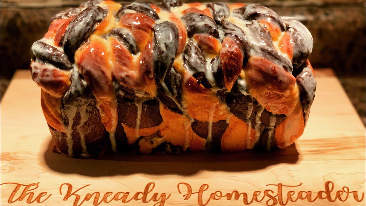 Holiday Chocolate and Orange Braided Sweetened Condensed Milk Bread