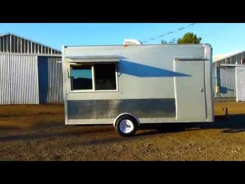 Custom Built Food Trailer for Mobile Shaved Ice Concession